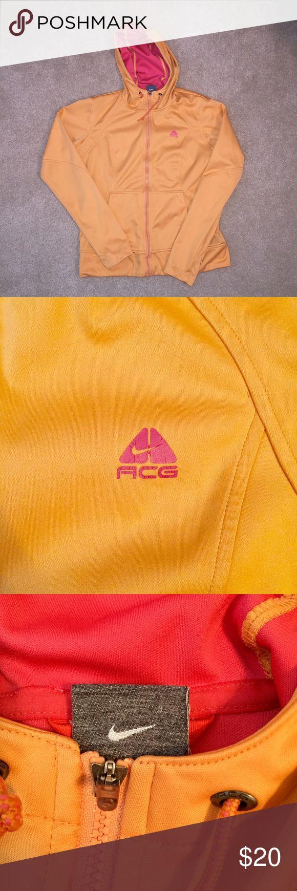 Nike ACG Orange and Pink Running Jacket Great condition! Has thumb holes! Nike ACG Jackets & Coats
