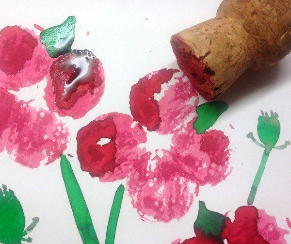 Liquid watercolour easy poppy craft - Hodge Podge Craft