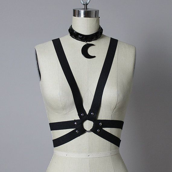 Victory  Suspender Studded Elastic Harness   Chest by PeekoApparel, $45.00