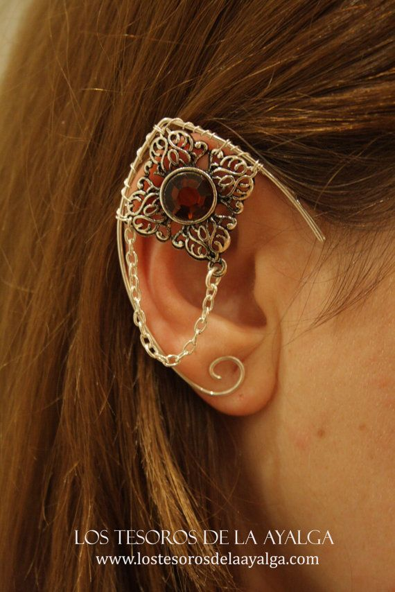 Elvish earring • ear cuff • elvish ear – chain – Angela R. Sasser