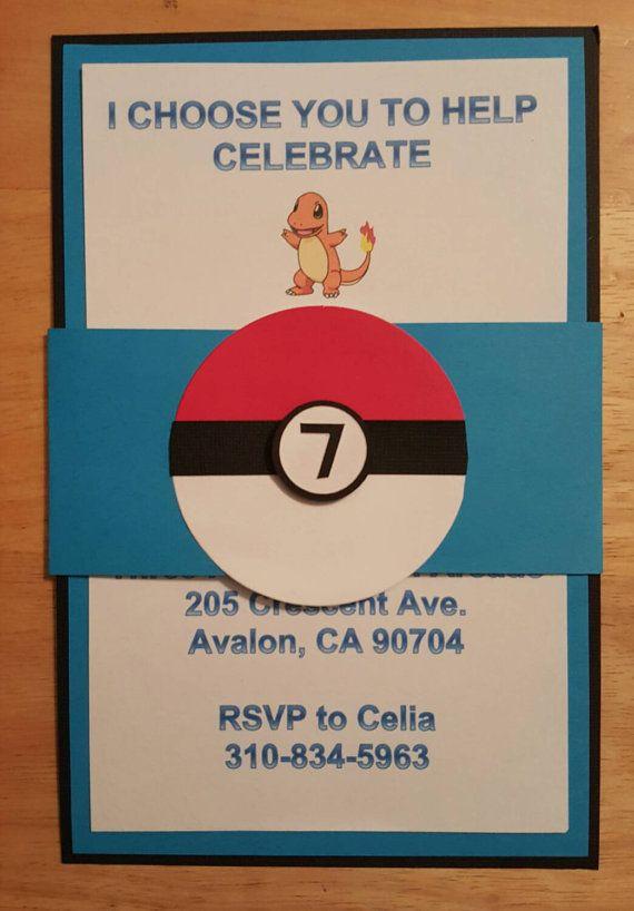 Hey I Found This Really Awesome Etsy Listing At Handmade InvitationsBirthday InvitationsPokemon BirthdayBirthday
