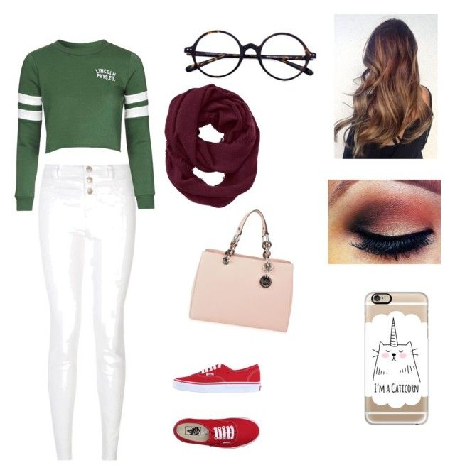 """""""Untitled #38"""" by nat2124 on Polyvore featuring Vans, New Look, Topshop, Casetify, MICHAEL Michael Kors and Athleta"""