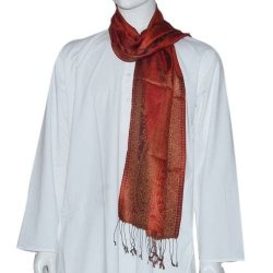 Scarfs Mens Accessory Brocade Silk Dad Gifts Idea Scarves Wholesale 14 X 64 Inches