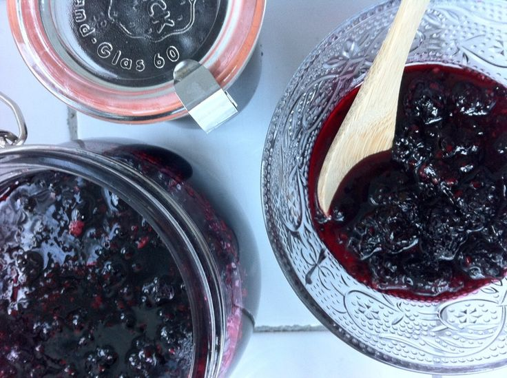 Brombærmarmelade med frisk vanilje