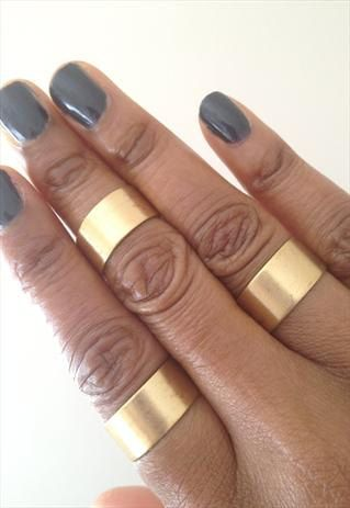 Gold Cuff Rings Wide Rings adjustable Rings  Set by PrettyandBling, £16.99