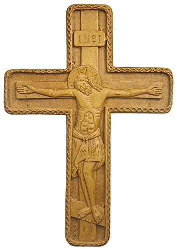 Byzantine Wall Cross Hand-carved Aromatic Greek Russian Christian Orthodox Plaque Made with Pure Wax, Mastic and Incense From Mount Athos Goblin Store