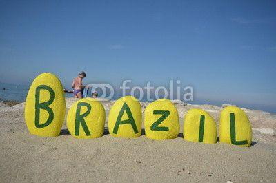 Brazil, yellow stones composition, souvenir