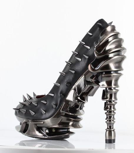 rock shoes steam punk | ... Talon Heels Black Metal Industrial Goth Shoes Steampunk Gothic | eBay