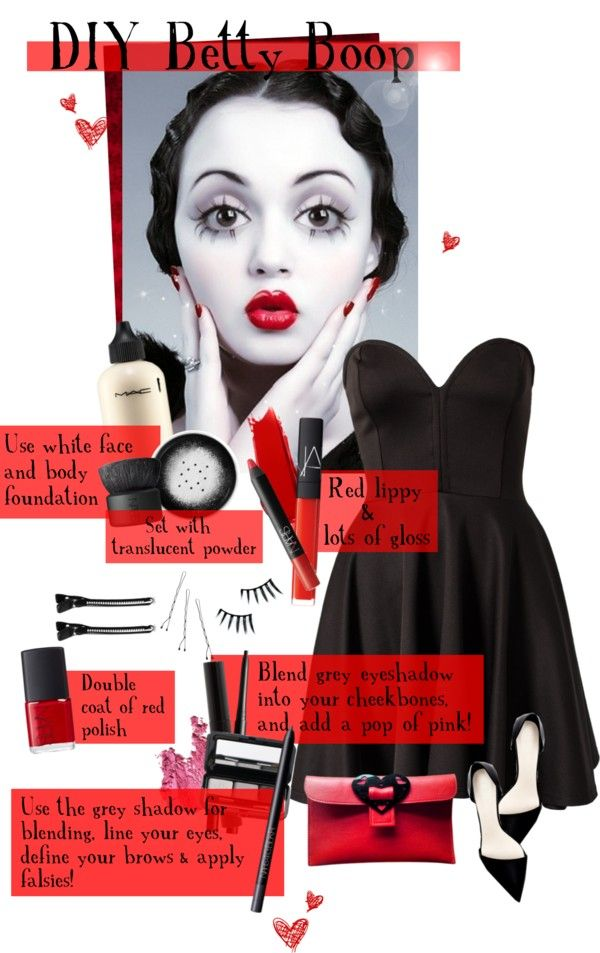 """""""DIY - Betty Boop"""" by elsabear ❤ liked on Polyvore"""