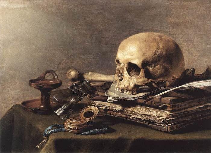 Ванитас (суета, тщеславие) — жанр живописи эпохи барокко, аллегорический натюрморт, композиционным центром которого традиционно является человеческий череп. Подобные картины, ранняя стадия развития натюрморта, предназначались для напоминания о быстротечности жизни, тщетности удовольствий и неизбежности смерти.