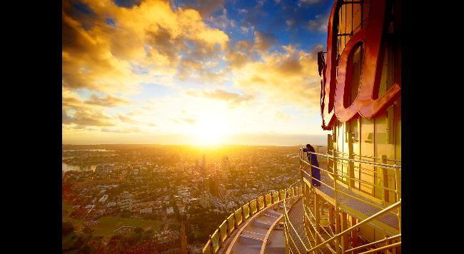 Summer Solstice Sydney Tower Eye in Sydney, Australia.