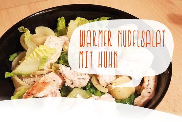 Mein Liebling, der geht immer! Warmer Nudelsalat mit gebratener Hähnchenbrust und Ahornsirup Dressing :)