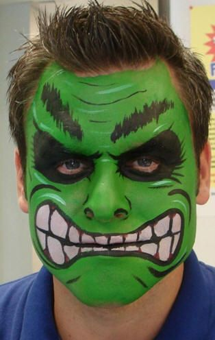 de hulk schmink facepaint hair pinterest cartoon. Black Bedroom Furniture Sets. Home Design Ideas