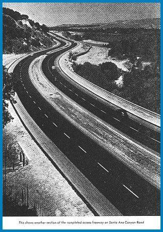 Santa Ana Canyon, Orange County CA, circa 1960. Now a 14 ...