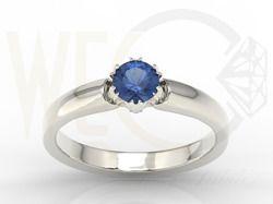 Pierścionek z białego złota z szafirem / Ring made from white gold with sapphire / 1 237 PLN / #jewellery #ring #gold #whietgold #sapphire #engagementring #engagement #inspration #love