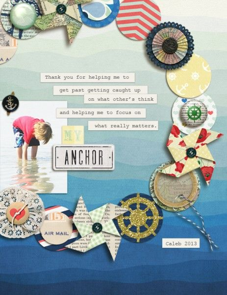 Ideas for Adding Pinwheels to Your Scrapbook Layouts | Amy Kingsford | Get It Scrapped