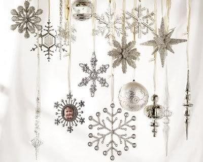 182 best christmas winter silver/white images on pinterest