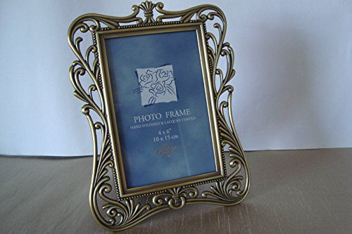 "Ornate Vintage Style 6"" x 4"" Metal Bronze/Gold Colour Photo Picture Frame Global http://www.amazon.co.uk/dp/B015OZ9308/ref=cm_sw_r_pi_dp_XK1Ywb12KJ70J"