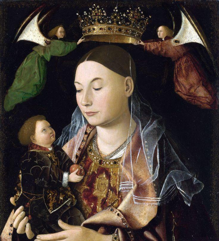 Антонелло да Мессина. Мадонна с младенцем (Мадонна Салтинг). 1460 г.  National Museum, London, UK
