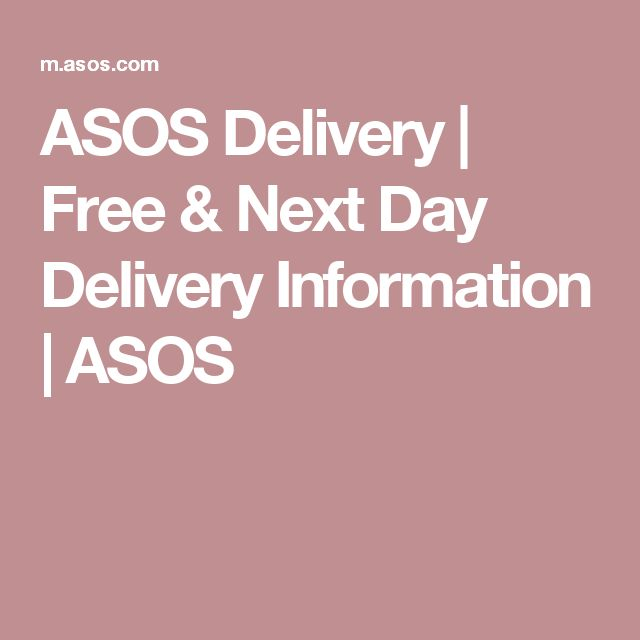 ASOS Delivery | Free & Next Day Delivery Information | ASOS