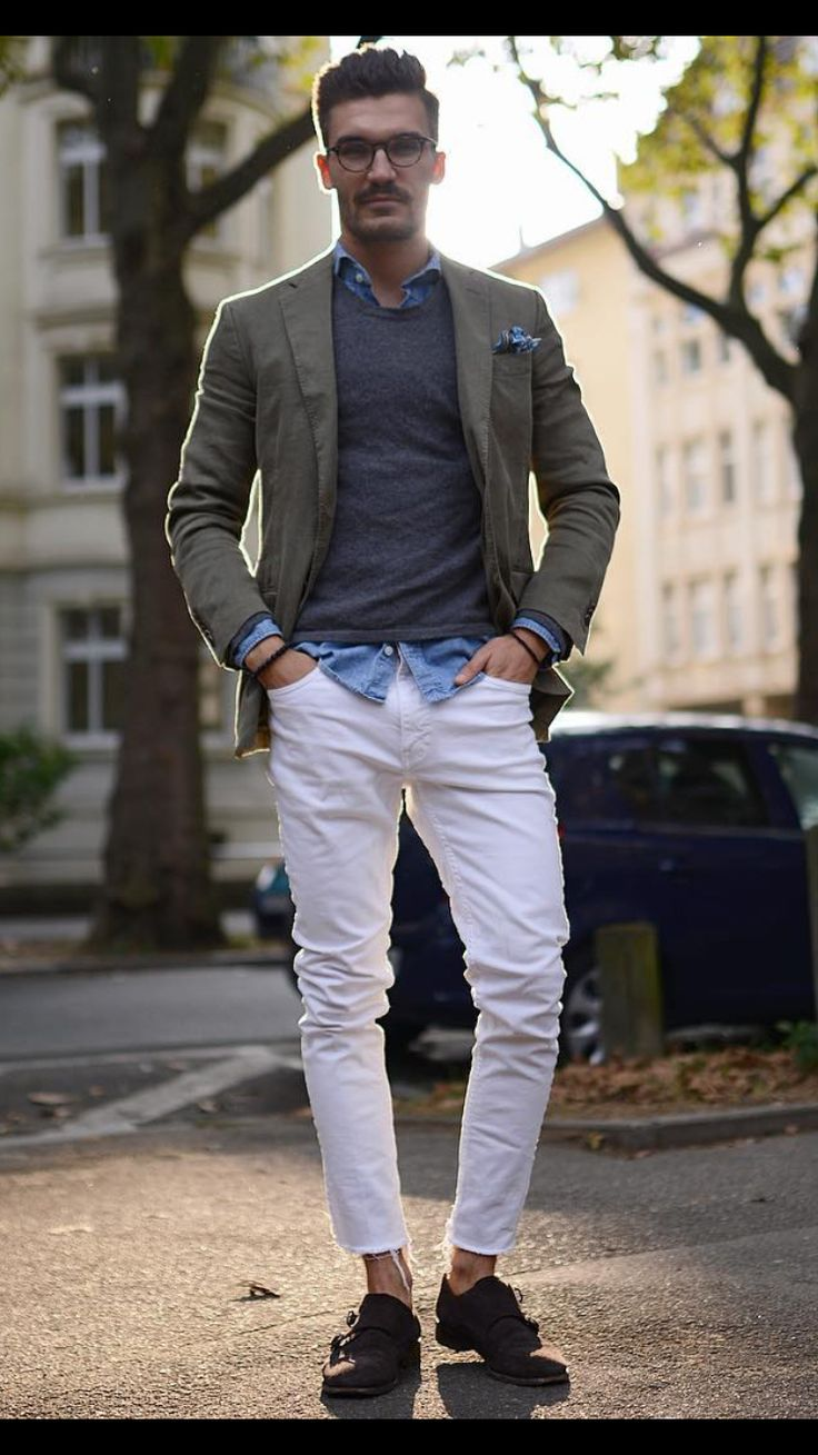 107 best images about How to wear white jeans ? # men's fashion on ...