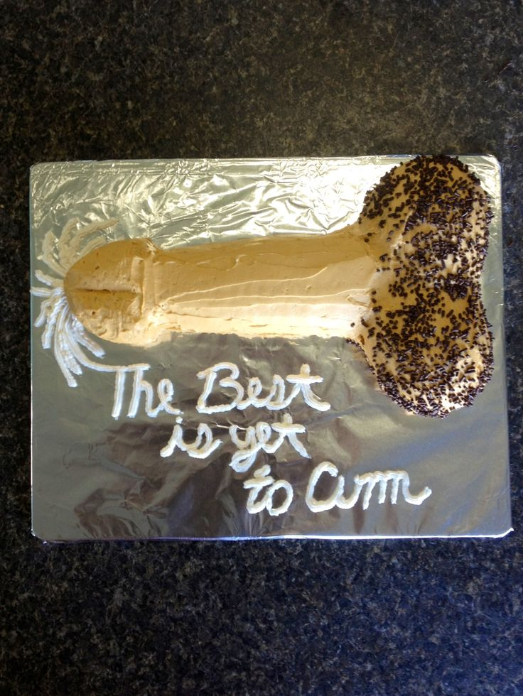 Penis Rice Crispy Cake For A Bachelorette Party Free Handed The Shape Of