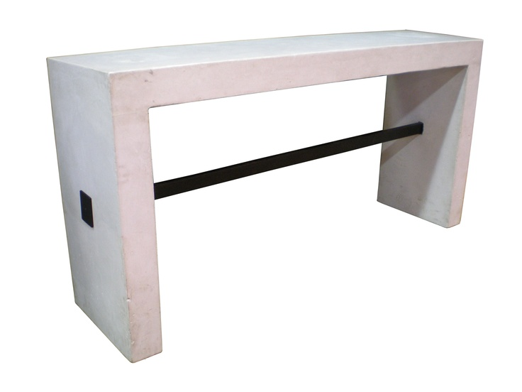 Bradley Owen Modern Console Table In Bone Concrete With