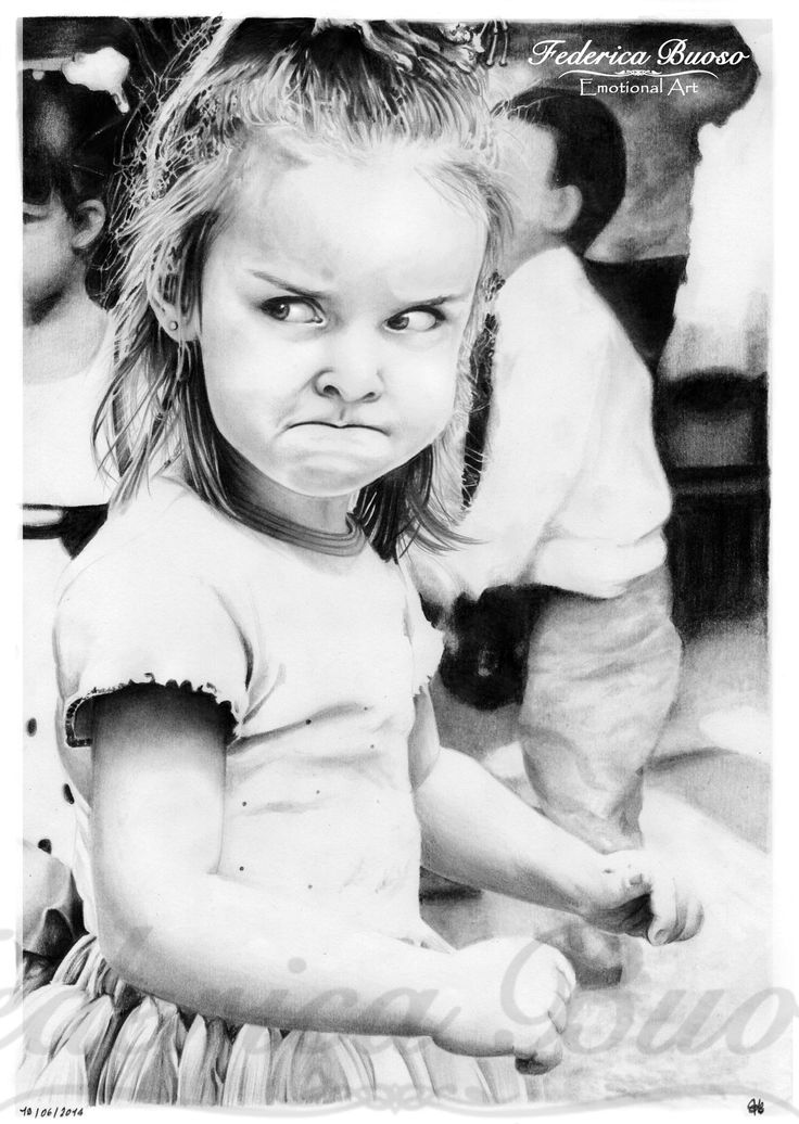 """""""Uff"""" - Matita su foglio A4 (19/06/2014)   Quante volte i bambini litigano? Si rincorrono, si tirano i capelli, si arrabbiano. Ma quanto dura il loro malumore o la loro rabbia l'uno verso l'altro? Non più di 5 minuti.  Eppure, nel mondo degli adulti, delle amicizie durate anni finiscono per molto meno.   Prendiamo esempio dai bambini, anche questo buffo visino imbronciato tra 5 minuti starà già sorridendo mentre la sua mano sarà già in quella di chi le ha fatto il torto. E noi?"""