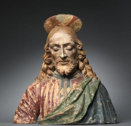 workshop of Andrea del Verrocchio (1435-1488)  Portrait bust of Christ  c. 1470-1500   terracotta