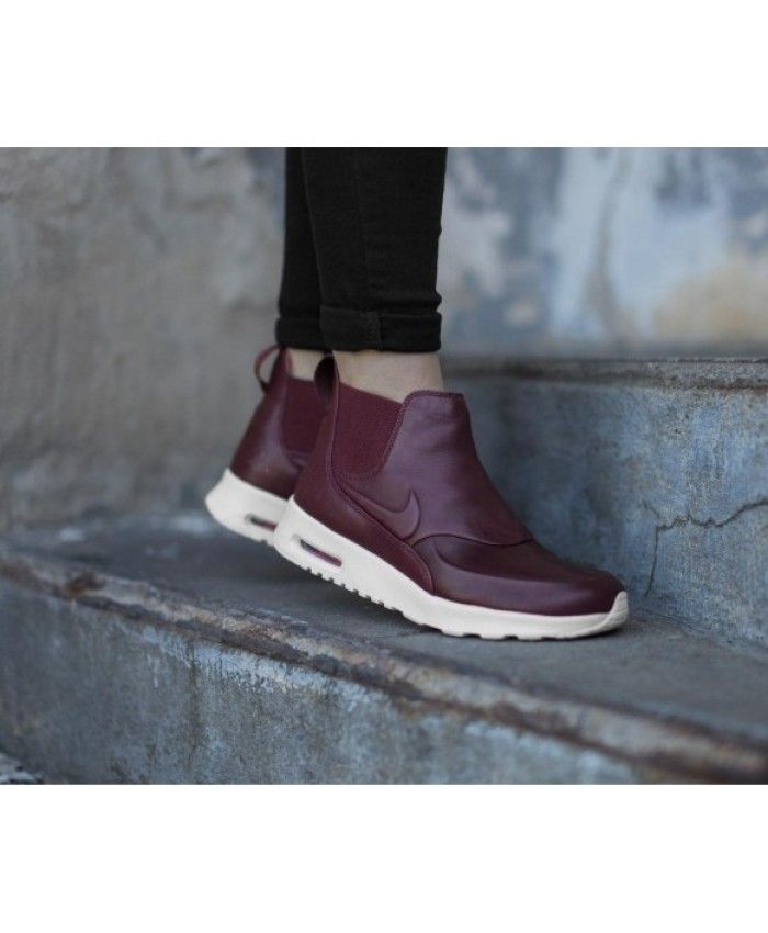 6133aea43b10 Nike Air Max Thea Mid Boot In Burgundy Sale UK