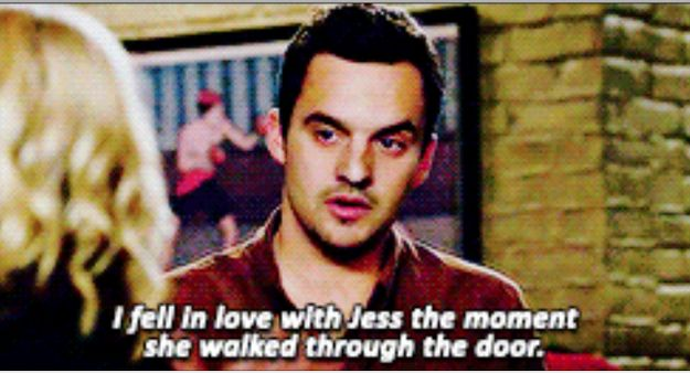 "In fact, from the moment he first laid eyes on her he was besotted. | 23 Reasons Jess And Nick From ""New Girl"" Were Actually Perfect"