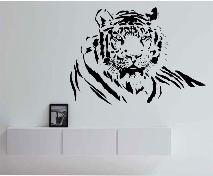 Tiger Wall Decal tiger wall art tiger wall decor l design Sticker Art Decor Bedroom Design tiger Mural home decor animals by StateOfTheWall on Etsy https://www.etsy.com/listing/220028882/tiger-wall-decal-tiger-wall-art-tiger