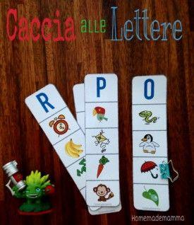 schede per imparare l'alfabeto