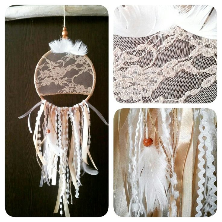 Beautiful lace dreamcather / 15cm