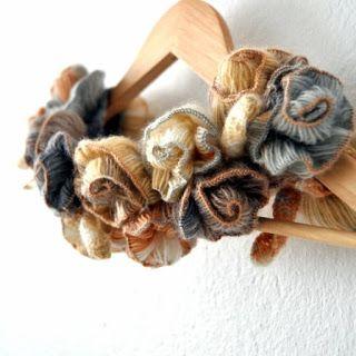 Tina's handicraft : flowers crochet scarf