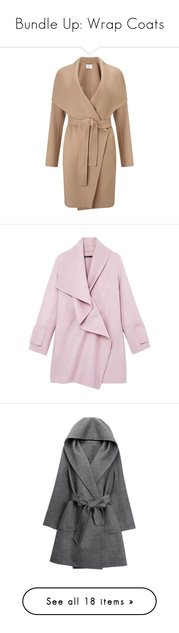 """""""Bundle Up: Wrap Coats"""" by polyvore-editorial ❤ liked on Polyvore featuring wrapcoats, outerwear, coats, wrap coat, camel wrap coat, tie belt, self tie belt, beige coat, jackets and coats & jackets"""
