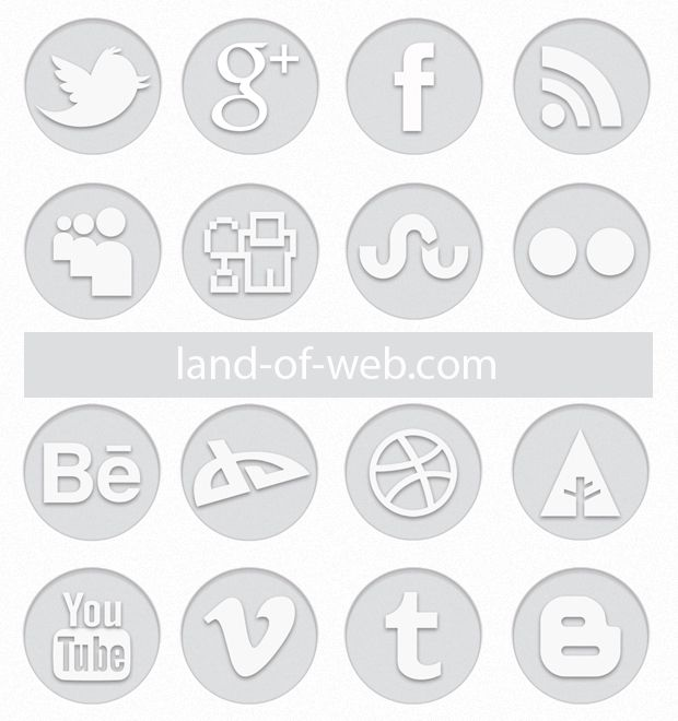 preview Light Grey Social Icon Pack2