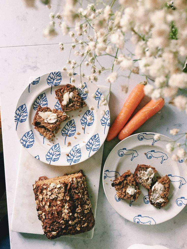 carrot and coconut loaf - healthy baking ideas