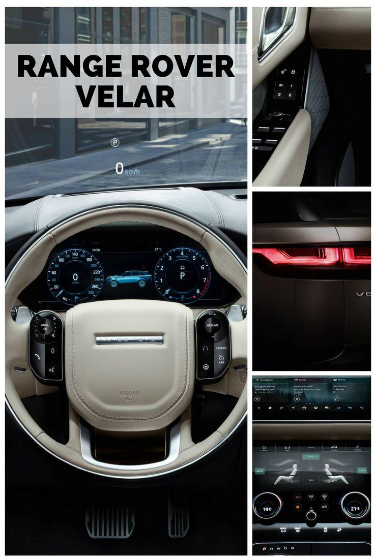 Range Rover Velar Interior é SUV médio da Land Rover lançado em março de 2017. Este é o quarto modelo da linha Range Rover e o nome Velar ja foi usado nas series de pré-produção da primeira geração de Range Rovers em 1969. A linha de design segue a mesma tendência da Evoque, que também foi utilizada nas versões mais recentes da Range Rover Sport. Esta nova linha foça principalmente na esportividade e no desempenho na estrada, contrastando do os modelos off-road da Land Rover.