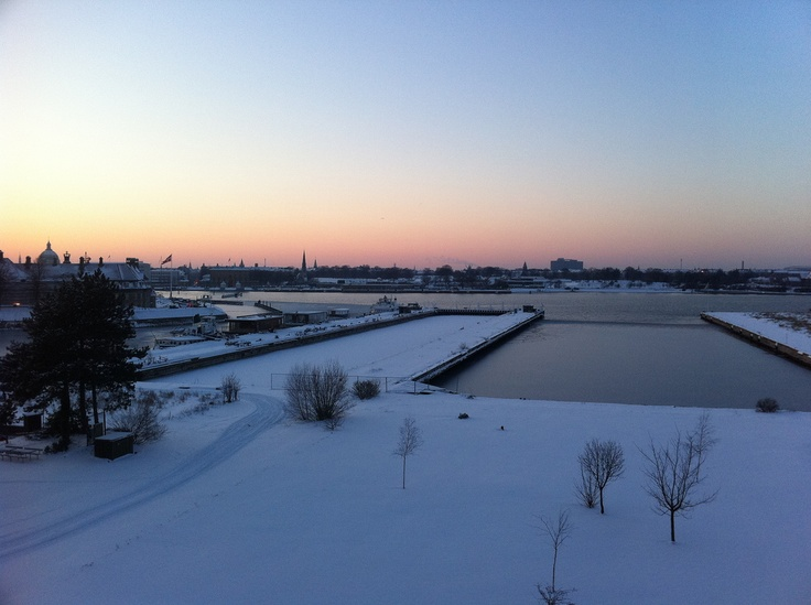 Enalyzer, HQ, Copenhagen. Office view. Winter.
