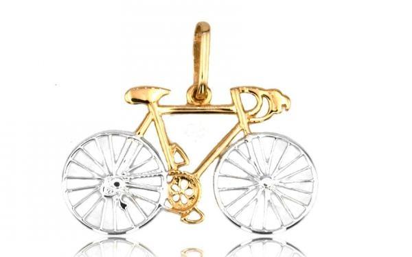 """Zlatý prívesok,,Road bike"""" cestný bicykel"""