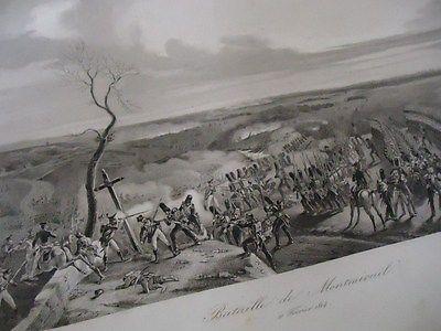 Gravure de la Bataille de Montmirail Fevrier 1814