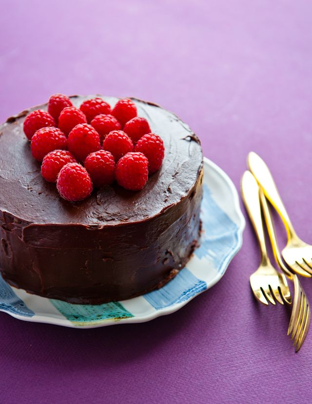 chocolate and raspberry cake from Desserts for Breakfast