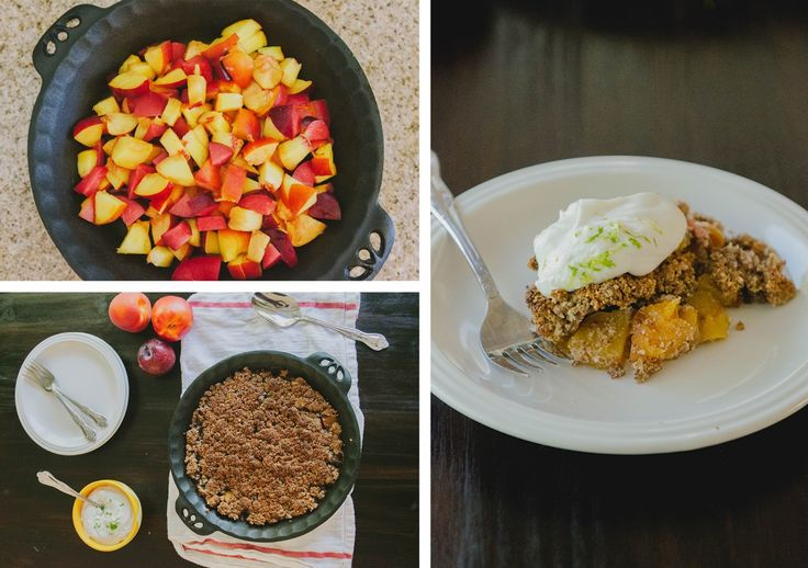 Grain-Free Stone Fruit Cobbler with Lime Coconut Cream + A Giveaway from California Almonds! #SoLetsPigOut