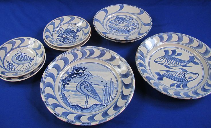 Anto Platters and plates & 49 best Anto made Delft ware: Tin-glazed Blue-and-white Earthenware ...