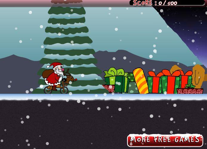 BMX'en met de kerstman