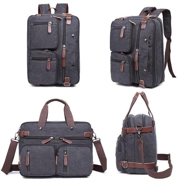 Hybrid Backpack Messenger B Leather Handbags Women Satchel Backpack Vintage Leather Bag