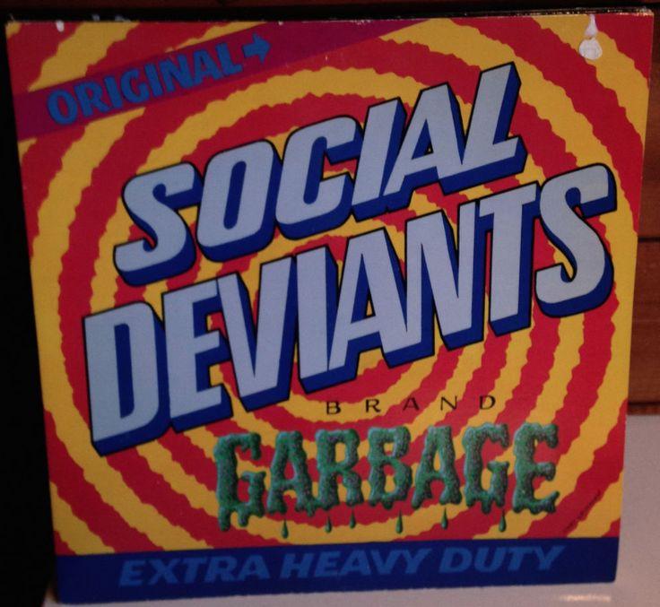 "SOCIAL DEVIANTS Garbage 10"" EP 1995 Bomp Mick Farren 1967 proto punk #BluesRockGarageRock"