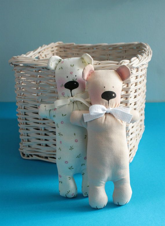 Teddy bear / Soft toy / Tilda Teddy bear by GuideForDreamers