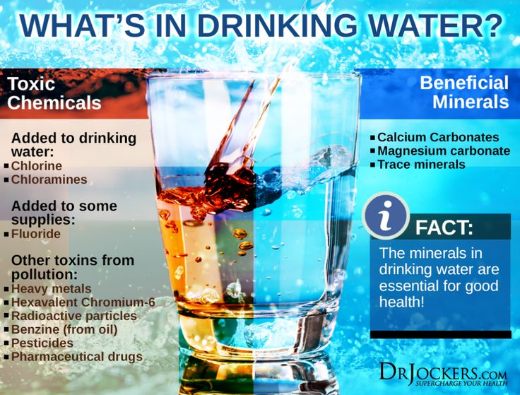 Clean, pure water is one of the greatest natural resources in the world. Every metabolic function depends upon the presence of water. Cities are built around abundant supplies of water. There are many industrial toxins present in our municipal water sources that must be avoided.  http://drjockers.com/toxins-in-our-water/